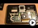This video describes how to perform a partial disassembly and cleaning of the cooling system of the laptop  ASUS  K61IC. В этом видео